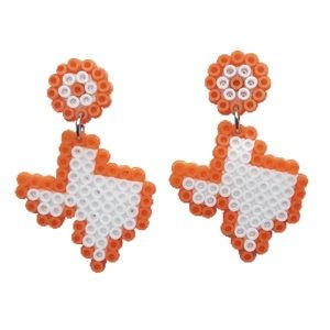 Orange TX Earrings